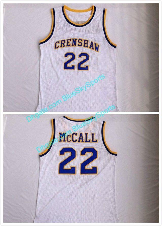 2018 Mens 22 Quincy Mccall Jersey White Crenshaw High School Basketball  Jerseys Shirt Uniforms Size S 2xl From Blueskysports, $15.98 | Dhgate.Com