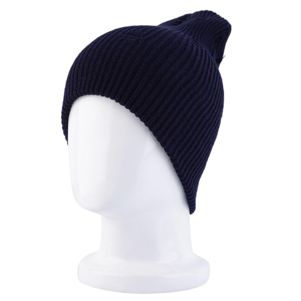 1139fd7995b Unisex Crochet Knit Oversize Baggy Beanie Winter Warm Vintage Cap ...