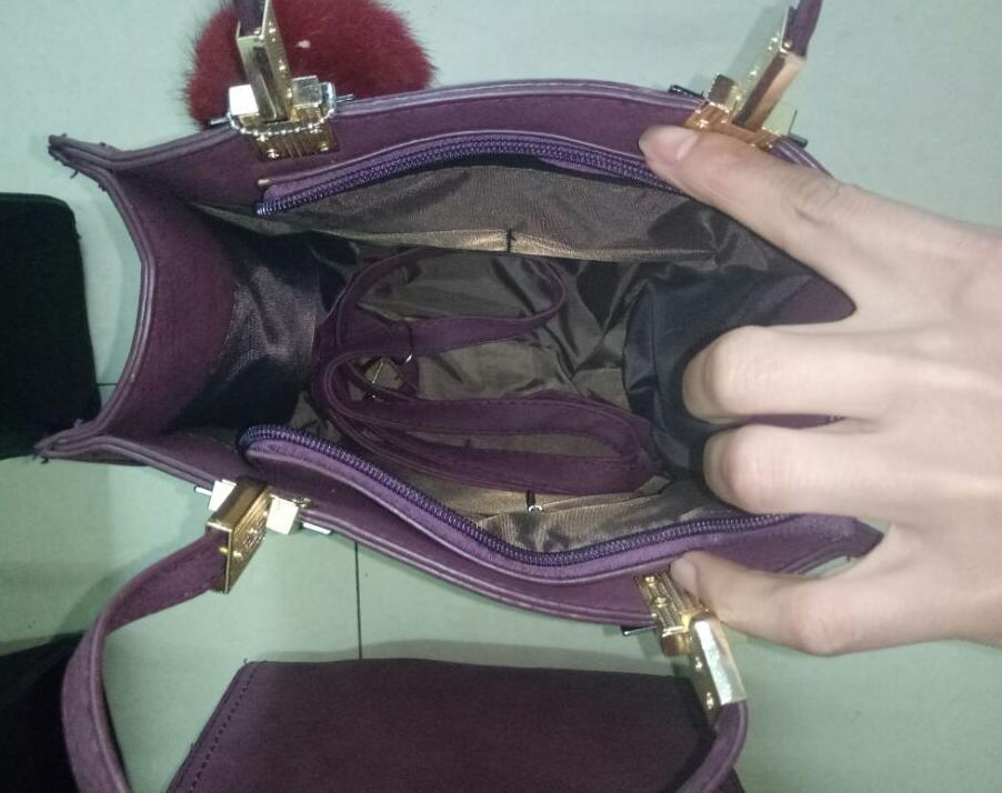 Women handle Hair bulb Bags Frosted Hardware Quadrate Tote Bag for Women Vintage Lady Crossbody Shoulder Bags DHL