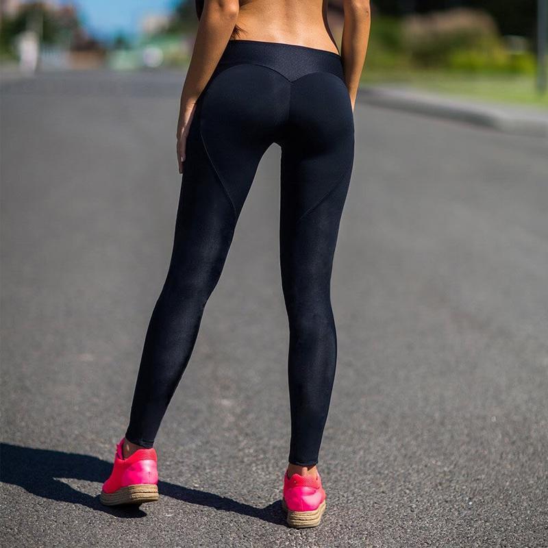 3bbf7ecb246ef1 Heart Shape Women's Sports Fitness Yoga Pants Gym Running Workout ...