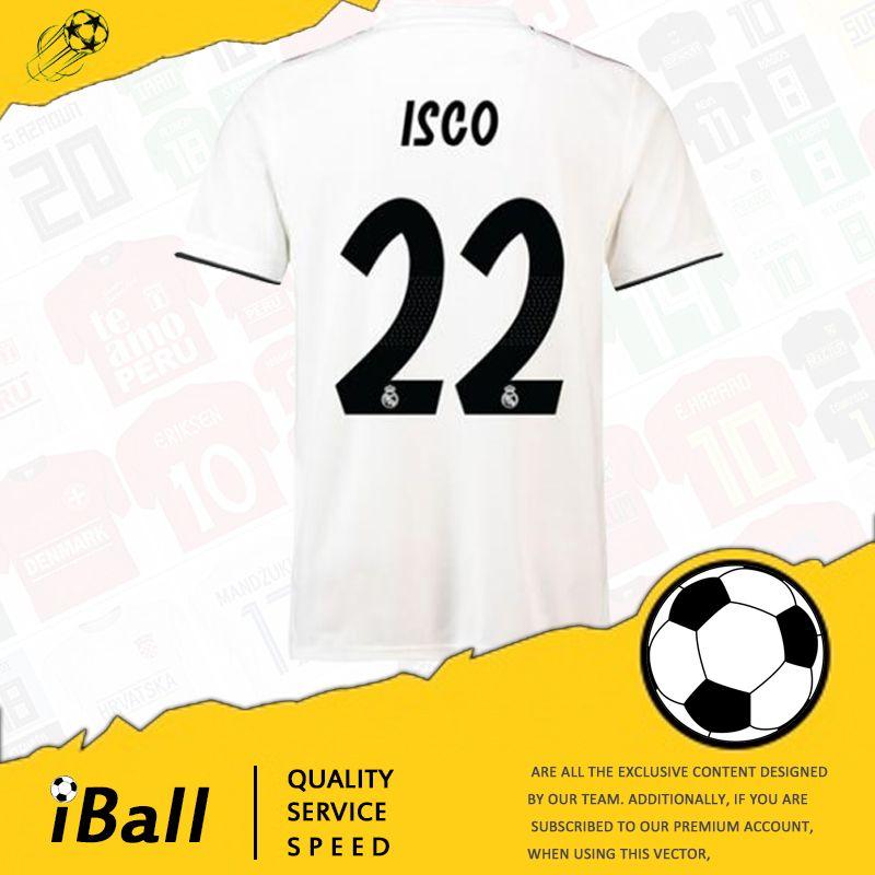 18 19 Real Madrid Home Away Camisetas De Fútbol 2018 Ronaldo Camisetas 2019  MODRIC LUCAS BALE KROOS ISCO BENZEMA Camisetas De Fútbol Camisa Nuevas  Camisetas ... c8cbd42428c18