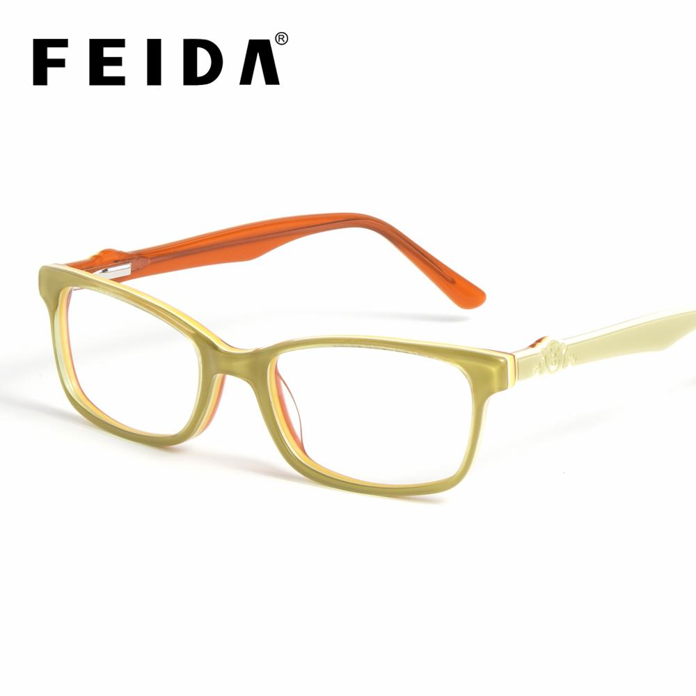 12dc42cf4a7 FEIDA Square Children Optical Spectacle Frames Girls Boys Acetate ...