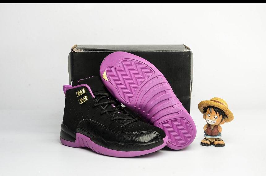 premium selection d582a d03a2 Acheter Nike Air Jordan 6 11 12 Retro Hotsale Pas Cher XII 12 Femmes  Chaussures De Basketball Prem HC GG GS HÉRESSES Os Or PLUM FOG 12s Enfants  Jeunes ...