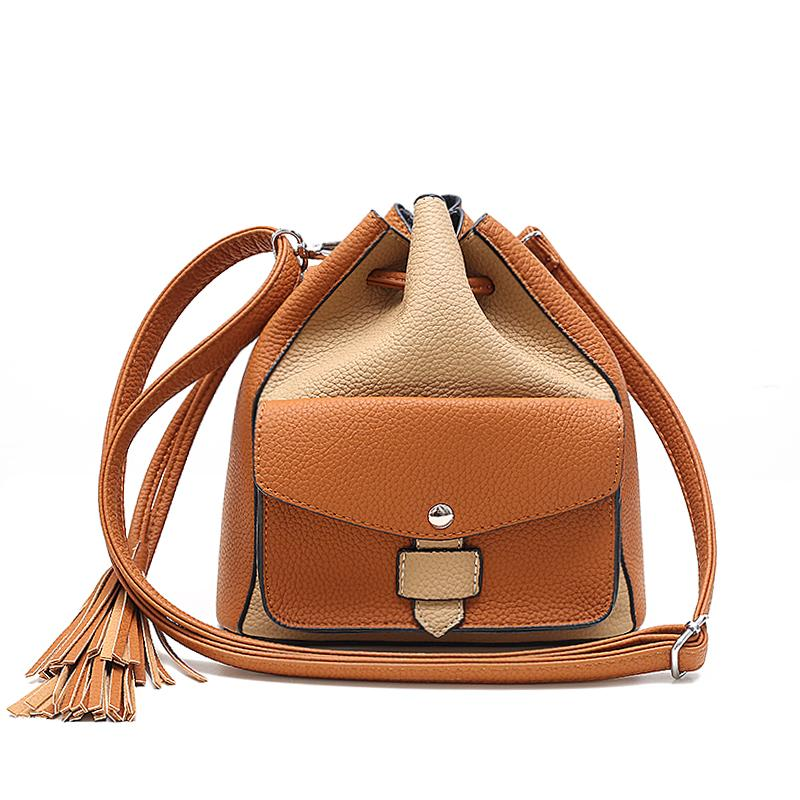 29d68f306198 Women Handbag PU Leather Tassel Cheap Crossbody Handbags Organizer Small  Cute Bucket Bag Lady Messenger Women Feminina Bags Backpack Purse Leather  Tote From ...