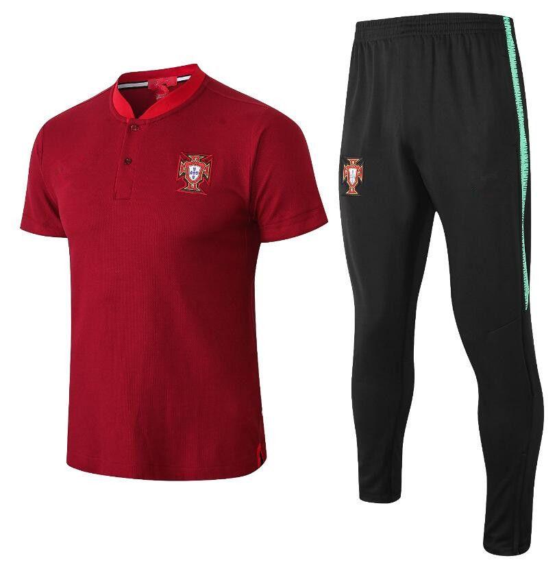 Compre 2018 World Cup Polo Portugal Soccer Jersey 18 19 Rojo Soccer Polo  Uniformes De Fútbol Camiseta Deportiva En Oferta A  28.43 Del  Jxingwangfs588 ... 3e9aa53b08e4d
