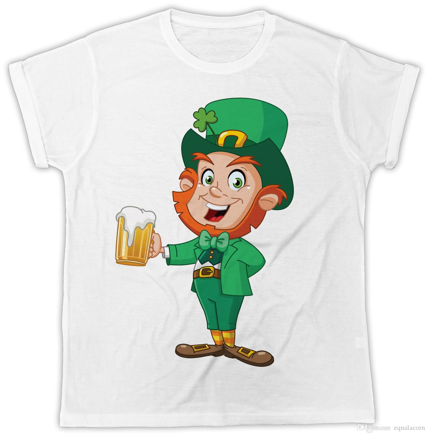 58c840252 ST PATRICKS DAY LEPRECHAUN SHAMROCK GOLD BEER IDEAL GIFT COOL FUNNY T SHIRT  Funky T Shirts Online Shirts Mens From Equalacorn, $10.3| DHgate.Com