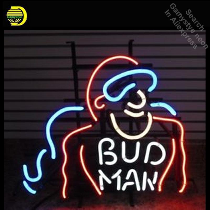 Vintage Signs For Sale >> Rare Vintage Original Bud Man Neon Signs Glass Tube Neon Lights Recreation Windows Iconic Light Signs Lights For Sale