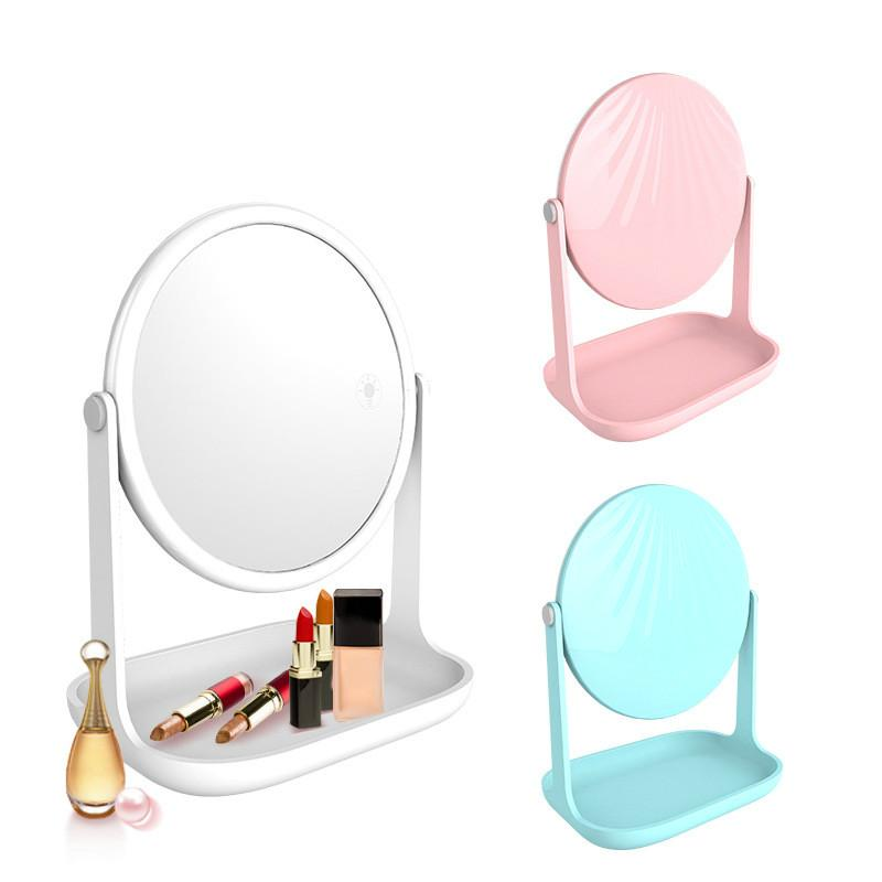 Amazing Portable Makeup Mirror Standing Led Light Compact Desktop Vanity Desktop Mirrors Small Hand Lamp Table Cosmetic Tools Download Free Architecture Designs Scobabritishbridgeorg