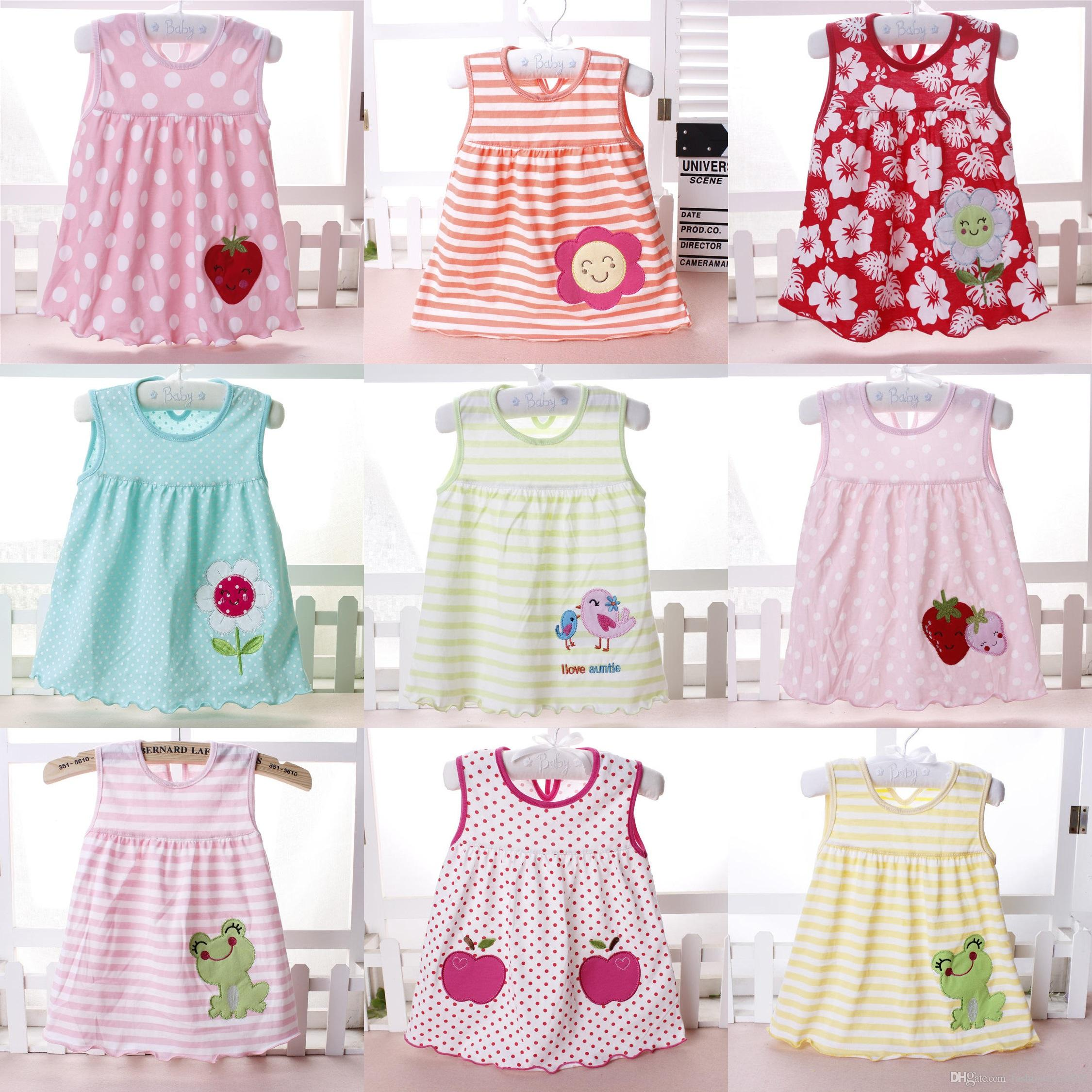 e1dc3e0506b2 2019 39 Styles Baby Girl Dress 2018 Summer Girls Dresses Style Infantile  Dress Hot Sale Baby Girl Clothes Summer Flower Style Dress Free DHL From ...