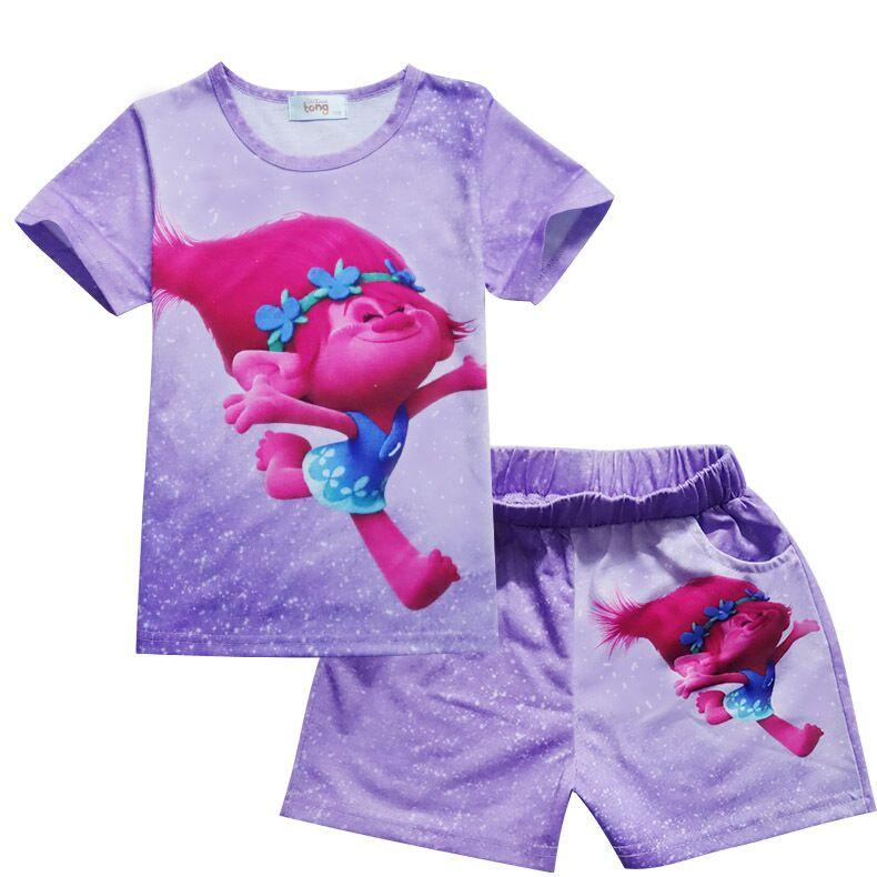 5275376d9 New Girls Pajama Sets Spring Summer Cartoon Cotton Clothing Set For ...