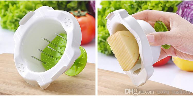 5 in1 Multi-function Plastic and Stainless Steel Blades Vegetable Fruit Slicer Fruit Vegetable Tools Kitchen Tools with Hand Protector