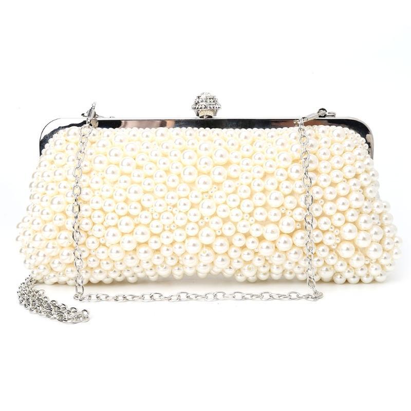 fdd4fb50cb THINKTHENDO Women Lady Evening Purse Beaded Clutch Shoulder Bag Handbag  Party Bridal Wedding New Elegant Fashion Bags Leather Purses Big Bags From  Croftte