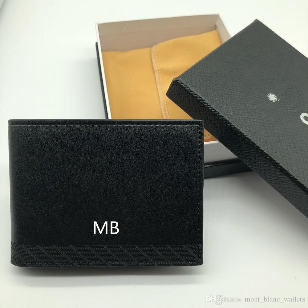 6ad43cf92e70 New Men's Leather Business Small Wallet Short MT Multifunctional MB ...