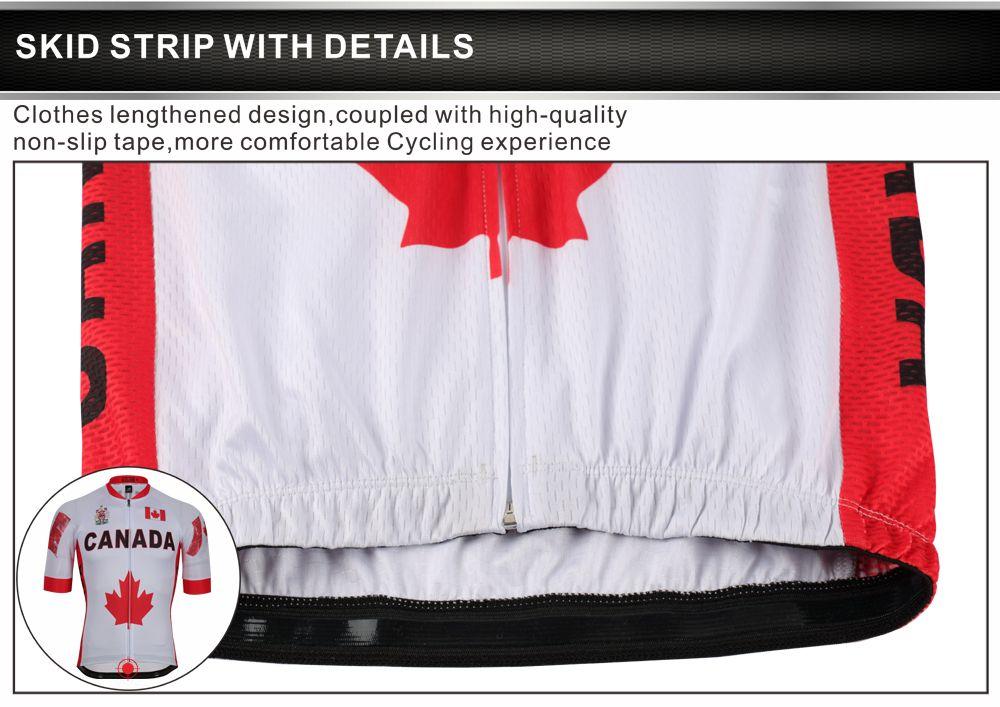 كندا العلم الصيف الرجال الدراجات الفانيلة الدراجات الملابس فريق mtb / الطريق دراجة الملابس دراجة ارتداء البوليستر 100٪