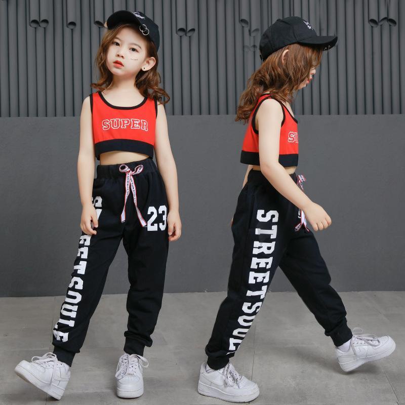 Compre Baile De Salón Ropa Para Niñas Disfraces De Hip Hop Pantalones  Sueltos Para Niños Crop Suave Escenario Funcionamiento De Alto Rendimiento  Vestuario ... a02283c5076