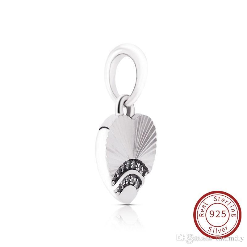 e0a1bcfdf132e0 Acquista Charms DIY Nuova Collezione Autentico Argento 925 Sterling 925  Pandora Charm Fan Of Love Ciondolo Bracciale 397286CZ A $12.2 Dal Charmdiy  | DHgate.