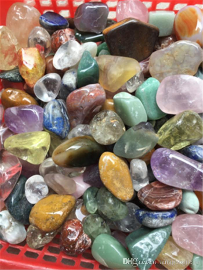 200g assorted tumbled gemstone mixed stones natural rainbow amethyst aventurine colorful rock mineral agate for chakra healing reiki