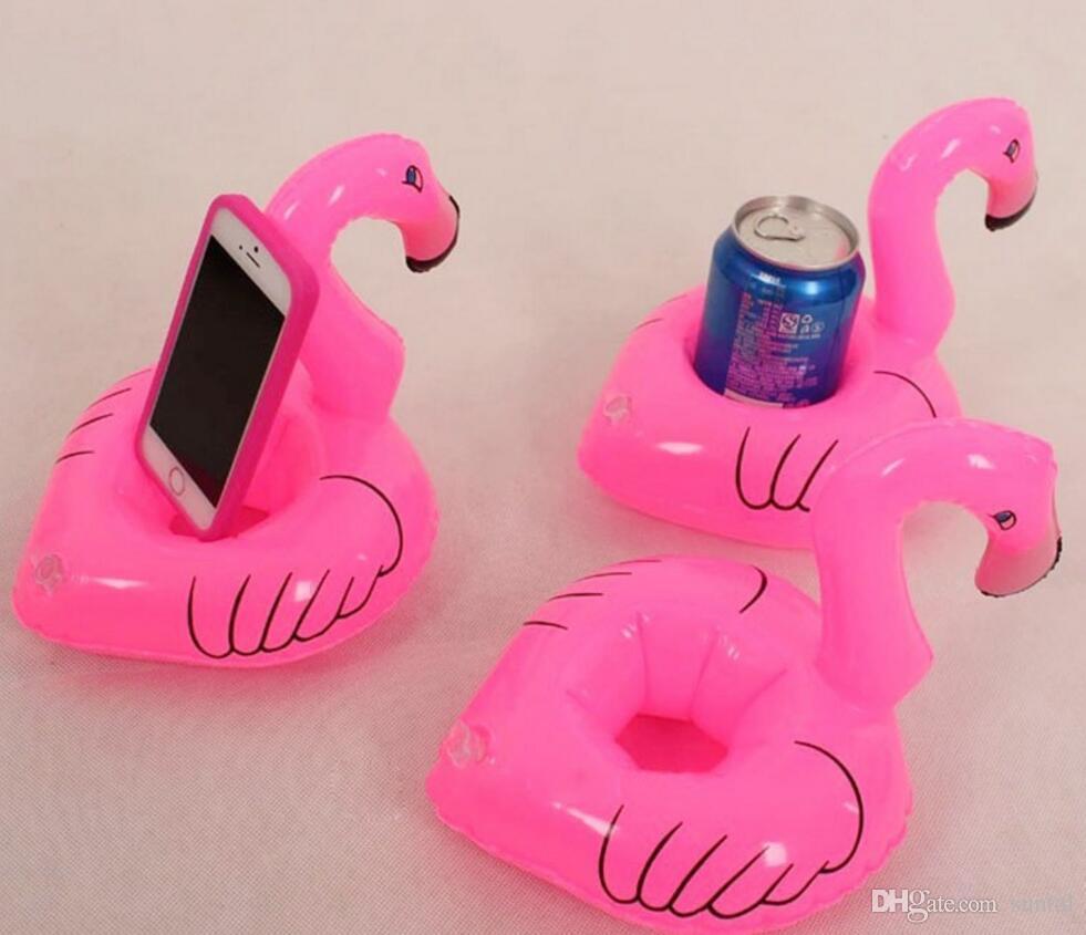 1000 adet Mini Flamingo Yüzen Şişme İçecek Can Cep Telefonu Sahibi Standı Havuzu Oyuncaklar Olay Parti Malzemeleri DHL Ücretsiz