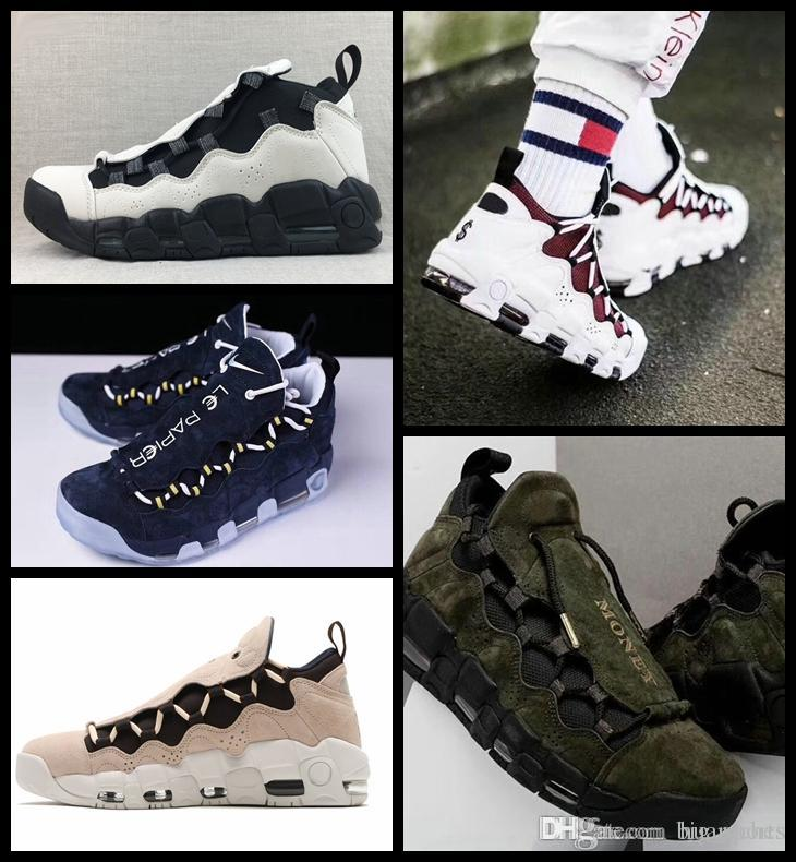 a3837087205c1 2018 New Air More Money QS Men Basketball Shoes Scottie Pippen Mens Black  Blue Green Uptempo Sneakers Trainers Basket Ball Man Sports Shoes Sneakers  Jordans ...