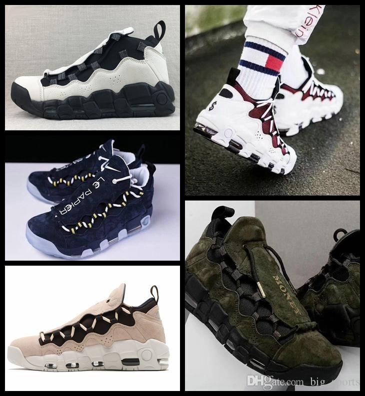 buy online 49e85 ef8fb Acquista 2018 New Air More Money QS Uomo Scarpe Da Basket Scottie Pippen  Uomo Nero Blu Verde Uptempo Sneakers Scarpe Da Ginnastica Basket Uomo Scarpe  ...
