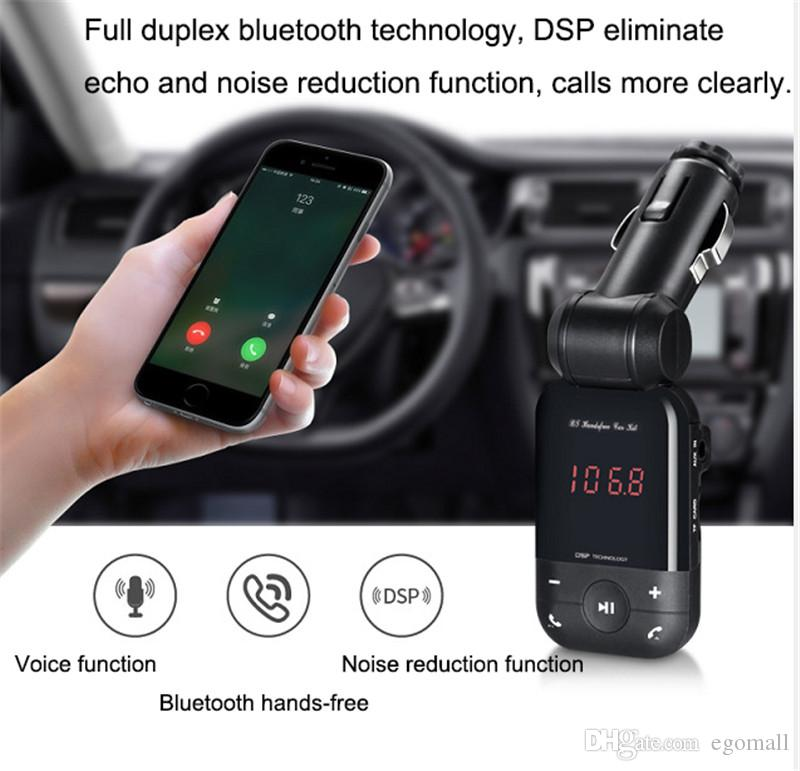 12V-24V auto stereo bluetooth hands free car kit FM transmitter U disk TF card MP3 music player voiture bluetooth telephone