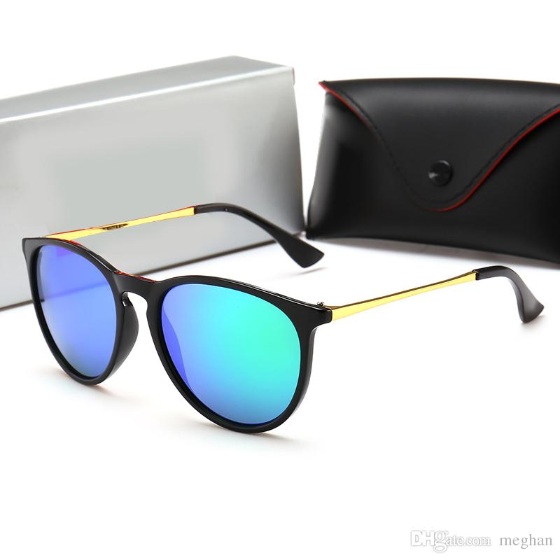 New 2018 Ray Aviator Vintage Sunglasses Pilot Men Women Glass Lens Bans UV400 Polarized Band Mirror Glass BEN Sun Glasses with case
