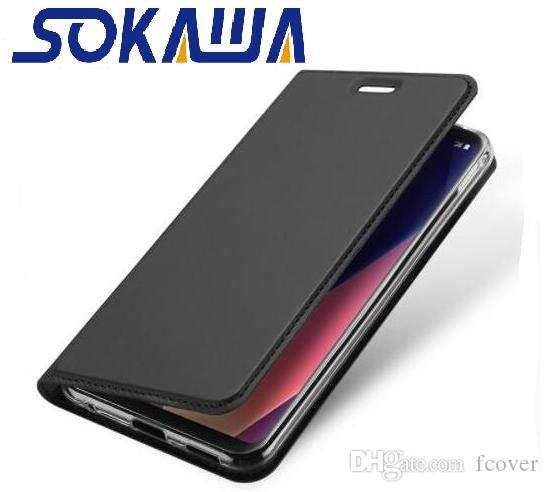 new concept ce0f3 fa12a For Sony Xperia XZ2 Compact & Xperia L2 & Xperia XA2 Ultra Flip Cover  Magnetic Kickstand Card Book Protective Shell Wallet Leather Case