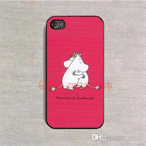Free Shipping Phone Case Moomin Valleys Cartoon Cover Plastic Hard Black Case For Samsung Galaxy S4 S5 S6 S7 Edge S8 Plus Note 5 Cases