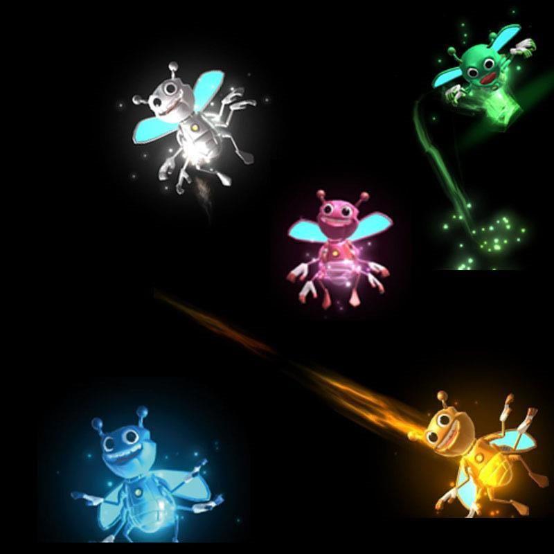 Bugz luminoso vola magicamente da Hnad a mano Luci magiche API 3D Download APP Kit lampada giocattolo Illusion Trick Funny Kids Regali di natale1