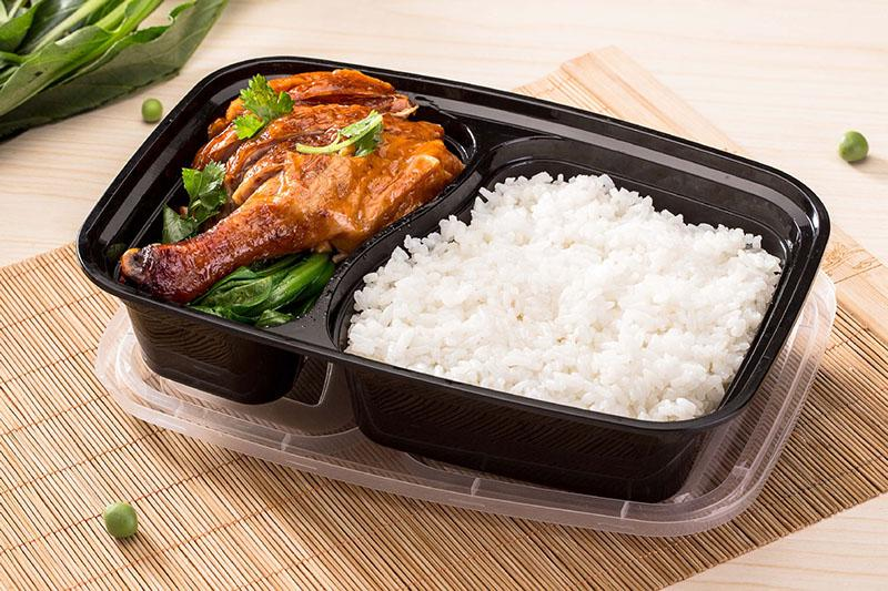 32 Oz 2 Compartment Meal Prep Containers Durable BPA Free Plastic