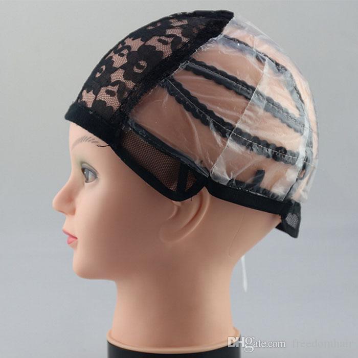 Tappi parrucca frontale in pizzo pieno rendere le parrucca cinghie regolabili taglia media CAP rete nelle estensioni