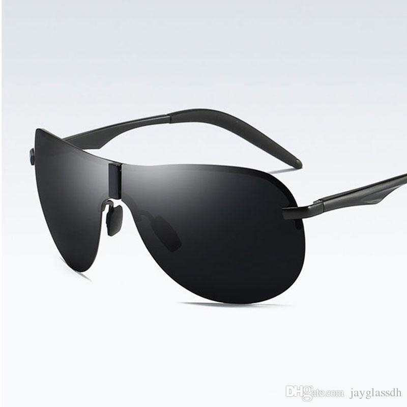 f7946daa842 2018 Fashion Rimless Men s Sunglasses Polarized UV400 Lens Driving ...