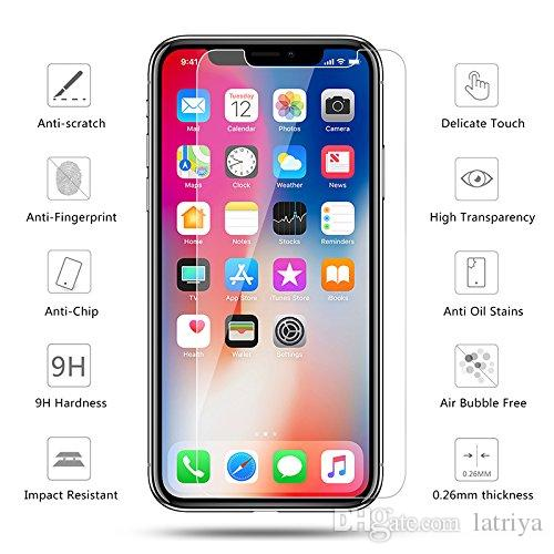 For iPhone X 8plus 7 plus Tempered Glass Screen Protector For Huawei P20 Pro Edition Film 0.33mm 2.5D 9H Anti-shatter Paper Package