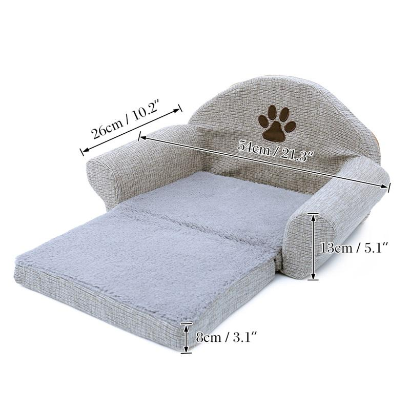 Pet Removable Dog Bed Four Seasons Gray Dog Sofa Dog Cat House Washable Pet Cushion For Pet bed Animals Pets Products