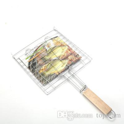 Griglia pesce Griglia in grassetto Plus. Griglia pesce di grandi dimensioni Utensili barbecue in acciaio inox Barbecue Utensili la cottura a clip