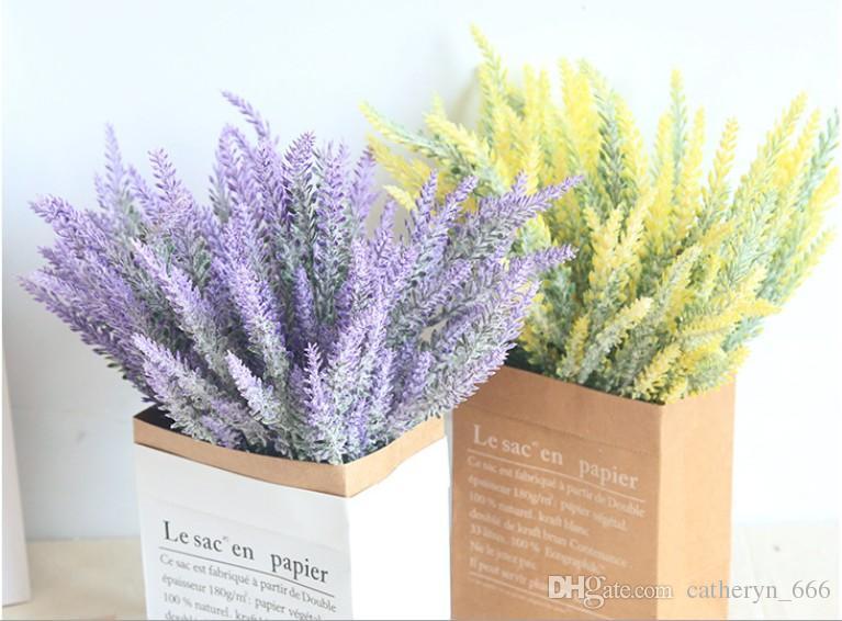 Großhandel künstliche lavendel bundle flowered flowered kunststoff