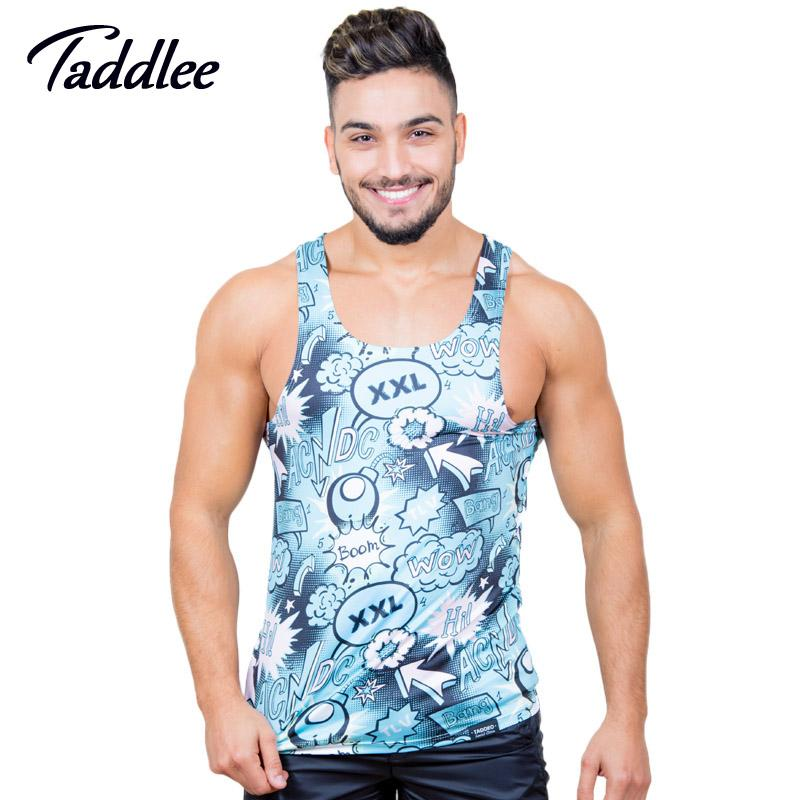 c469ff56ea855f 2019 Taddlee Brand Men S Tank Top Tshirts Polyester Sleeveless Undershirts  Fitness Stringers Singlets Muscle Bodybuilding 3D Print From Annuum