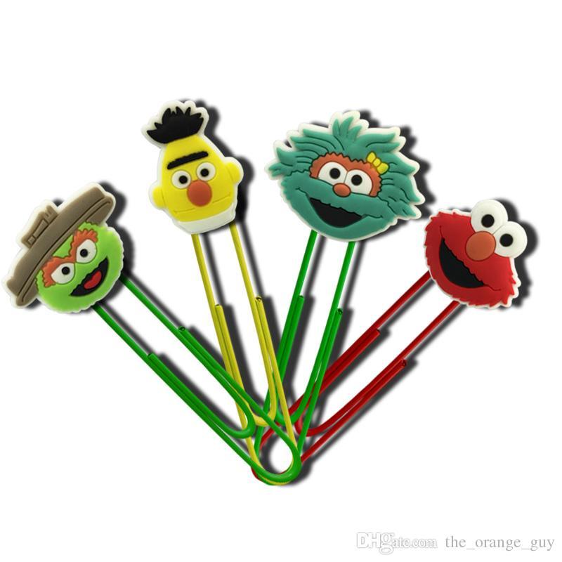 Livraison Gratuite Sesame Street Signets Bande Dessinée En Métal Trombones École Fournitures De Papeterie Signets Créatifs Enfants Favor Cadeaux