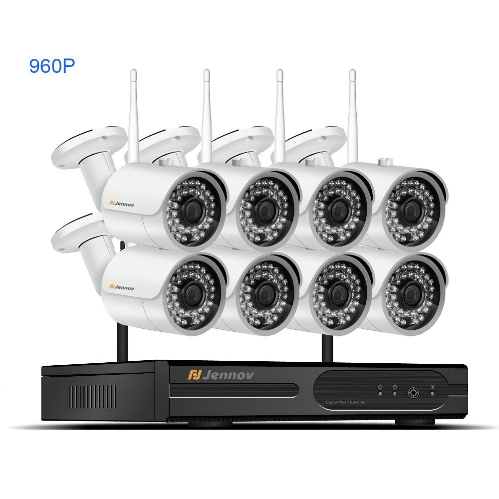 9f330ac6d7b 2019 HD 8CH CCTV Kit 960P Home Wireless CCTV Security Camera System With  NVR HD Wifi Video Outdoor Surveillance Kit APP Remote View From Muju