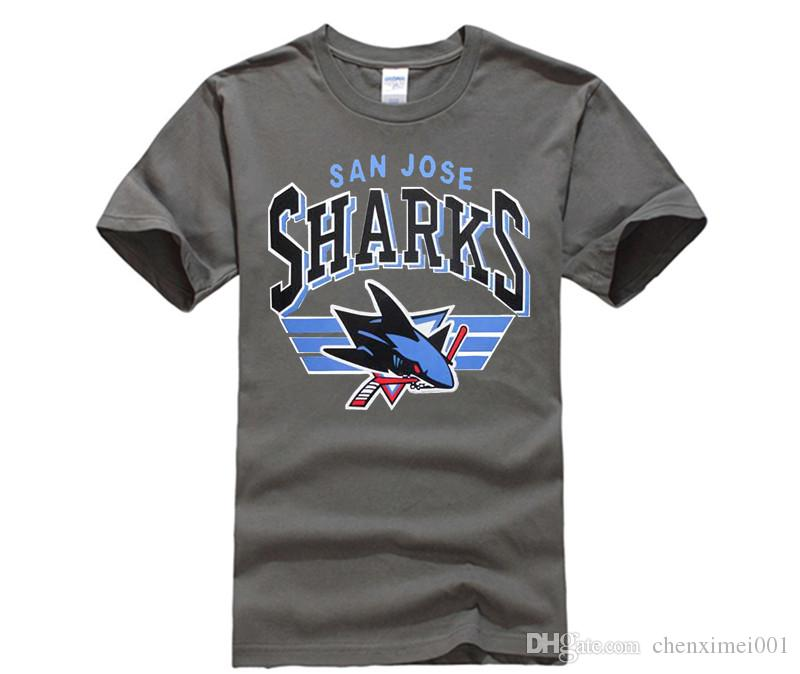 2a4bba11e San Jose Shark T Shirt For Men Loose Hip Hop Tees Black T Shirt Male Blouse  New Brand Cool Shirt Funky Tshirts T Sirt From Chenximei001
