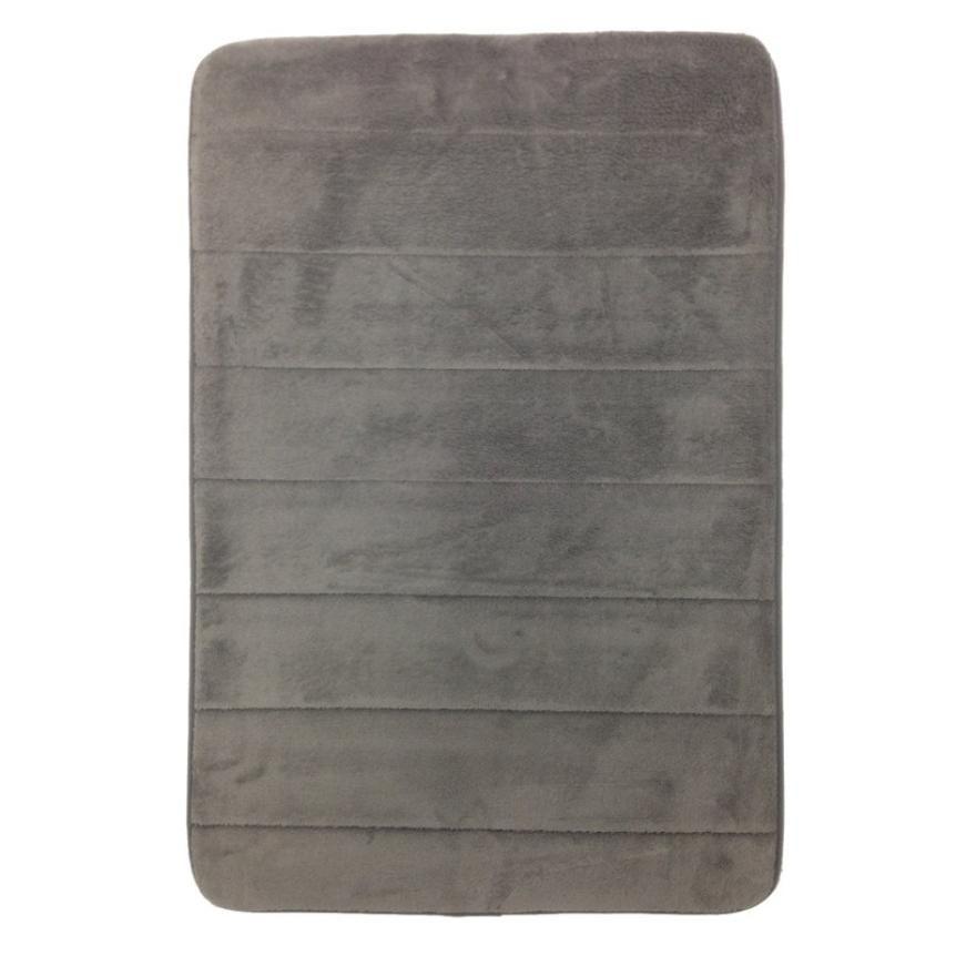 2018 2016 Simple Design Bathroom Carpet Memory Foam Bath Horizontal Stripes Coral Fleece Slip Resistant Shower Carpets Alfombras Xt From Plumer