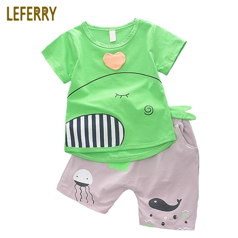 235ed592f1f9 2019 New Fashion Baby Boys Clothing Set Cotton Short Sleeve + Shorts Cartoon  Kids Clothes Summer Set Baby Boy Outfits Y1893005 From Shenping02