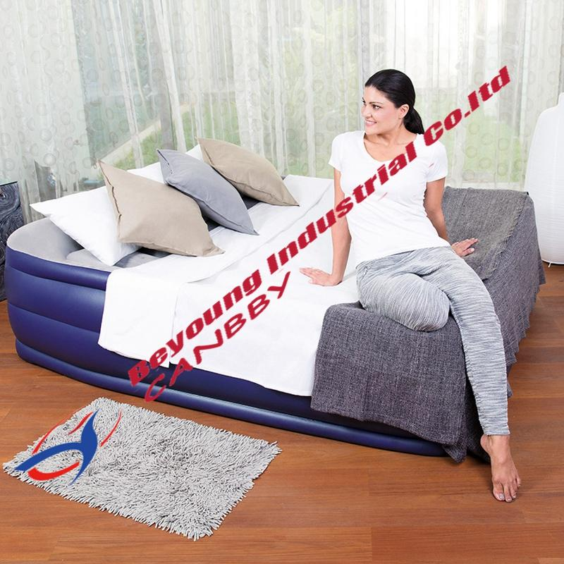 c33556c8b Compre Bestway Deluxe Levantou Airbed Queen Size Colchão Inflável Com Bomba  Elétrica Embutida   Travesseiro