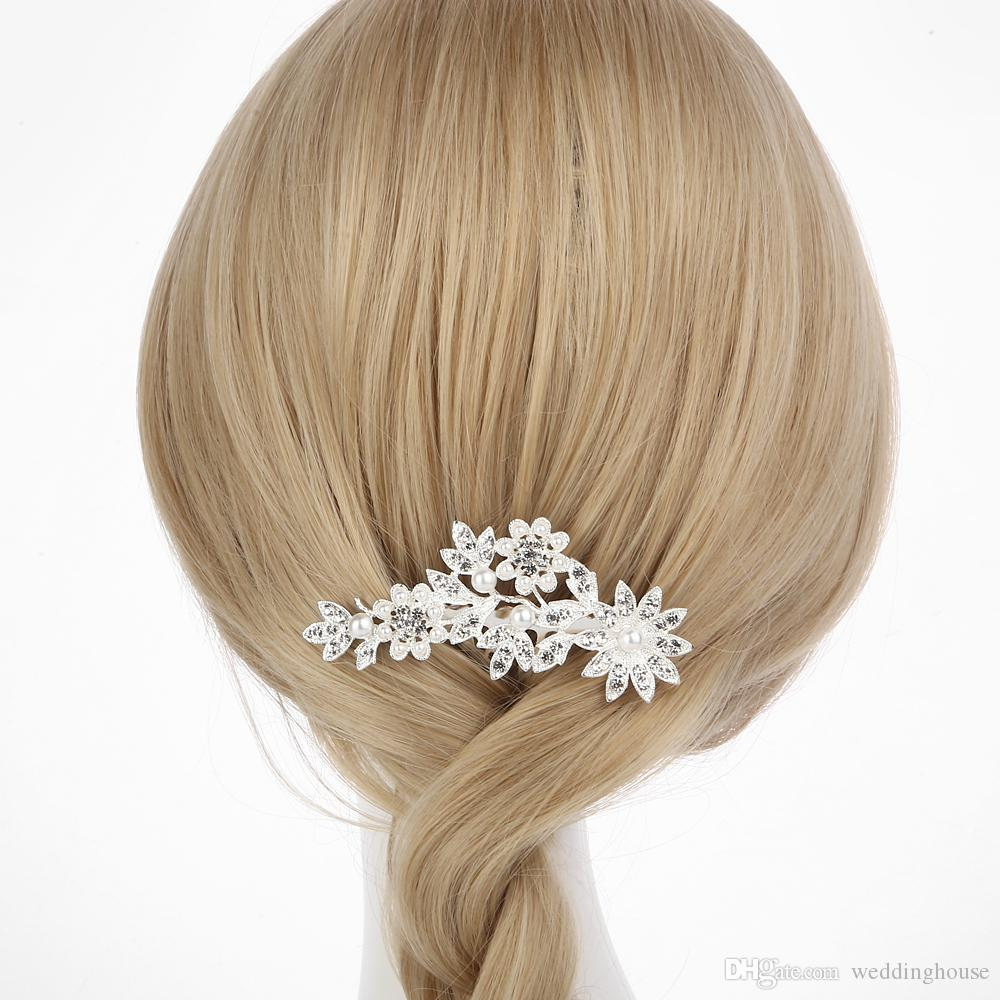 Hotsale Feis Brandnew زهرة و أوراق الشعر مرتفعة رومانسية الزفاف زهرة غطاء الرأس الشعر التبعي للعروس الزفاف التبعي