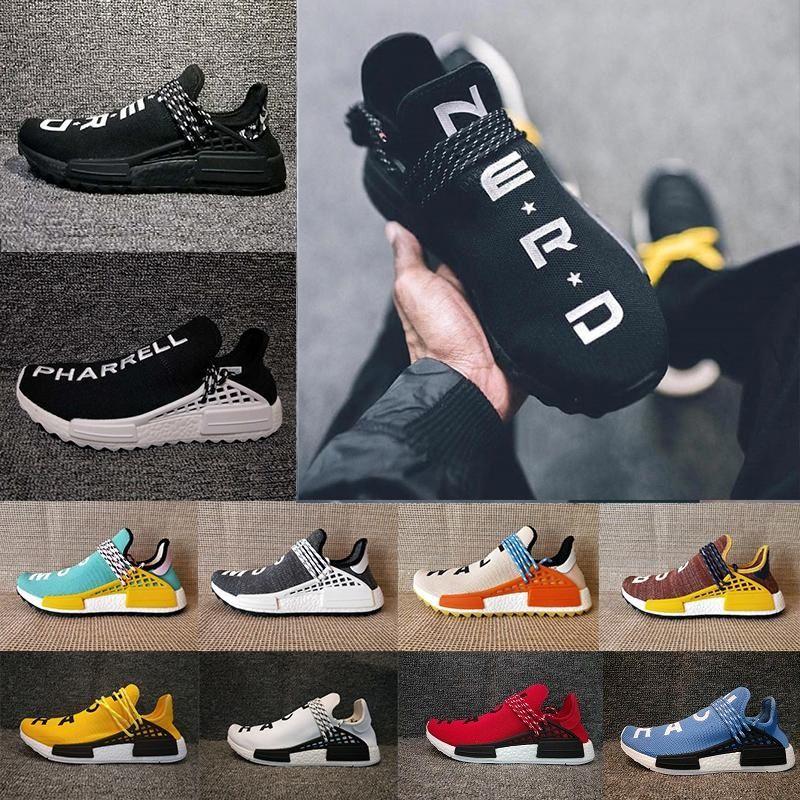549d6c11ea1 Acheter CHAUD Pharrell Williams Hu TR Chaussures X Course Humaine Chaussures  De Course Hommes Sports Femmes Formation En Plein Air Sneaker 36 47 De   65.99 ...