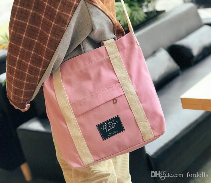Canvas Handbag Daily Tote With Shoulder Women Summer Beach Bag Crossbody  Straps Outside Pocket Colorful 2018 Fashion Canvas Handbag Daily Tote With  Shoulder ...