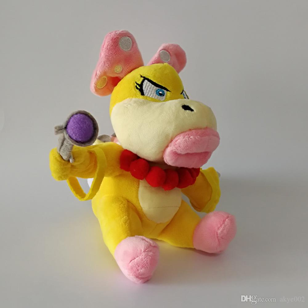 Hot Sale 17cm Super Mario Bros Koopaling Wendy Koopa Plush Stuffed Doll Toy For Kids Best Holiday Gifts