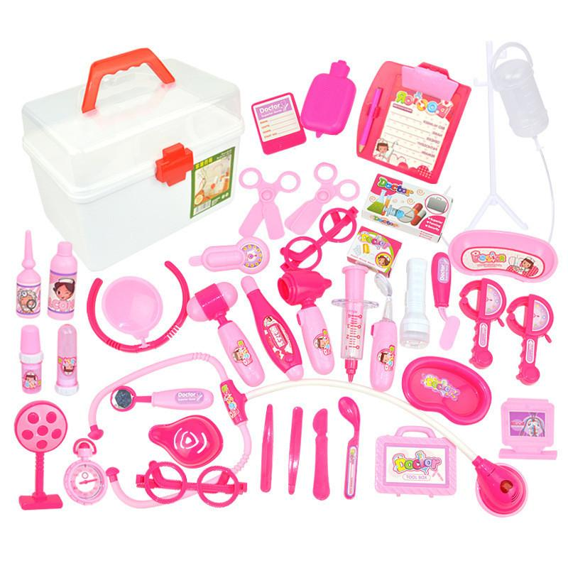 1a3c7c70a08b 2019 Kids Toys Doctor Set Baby Suitcases Medical Kit Cosplay Dentist Nurse  Simulation Medicine Box Costume Stethoscope Gift For Child From Kareem11