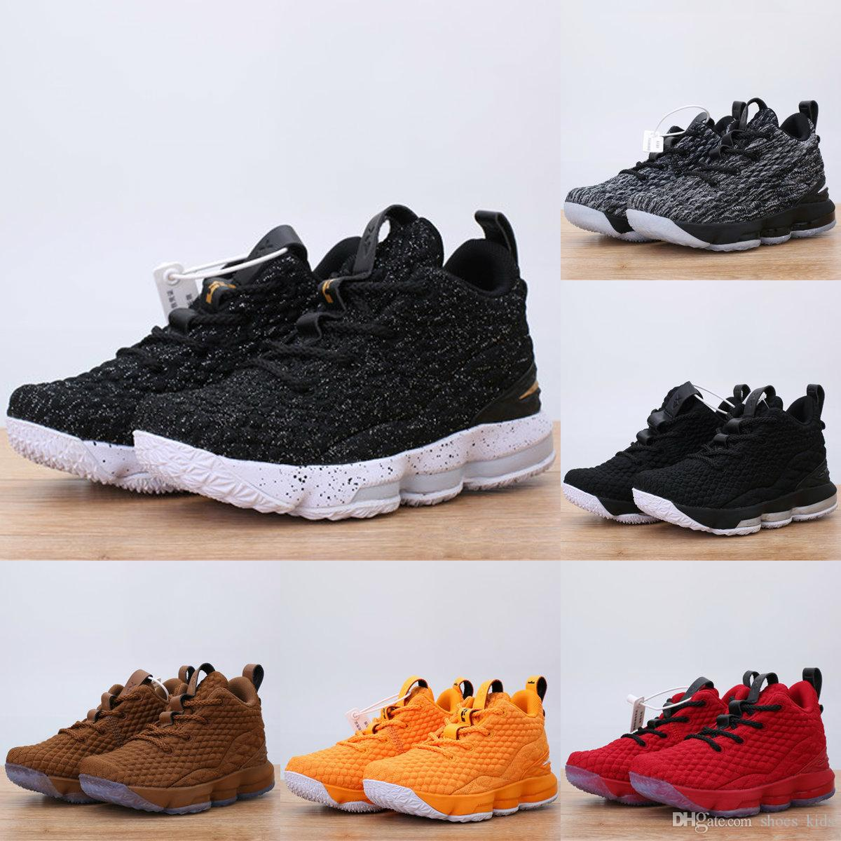 1fb10533201 ... discount 2018 new kids basketball shoes ashes ghost lebron 15 red black  lebrons boys training arrival