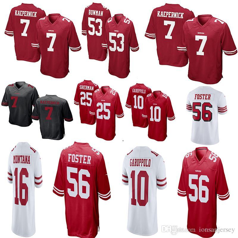 680316f000b San Francisco 49ers 25 Richard Sherman 10 Jimmy Garoppolo Jersey 56 ...